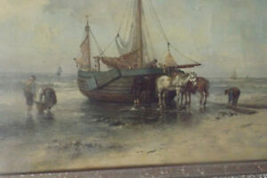 Fine Design Style Dutch Master Rare Oil Painting Dorus Arts Artist Art Book Ship
