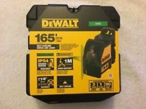 NEW DEWALT DW088CG SELF LEVELING CROSS LINE LASER LEVEL 165#x27; RANGE KIT 2667350