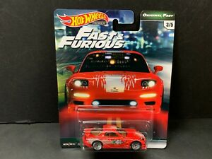 Hot Wheels Mazda RX7 1995 Red Fast and Furious GBW75 956B 1 64