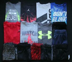 Boy Youth Small 8 810 Nike Under Armour Athletic T-Shirts Shorts Lot Free Ship