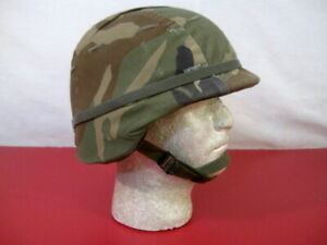 US Army PASGT Ground Troop Helmet made with Kevlar wWoodland Camo Cover - Lg #3