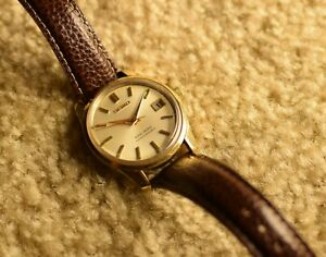 Rare Vintage King Seiko 4402 8000 Gold-plated Manual Winding Dress Watch