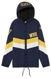 VICTORIA'S SECRET PINK WEST VIRGINIA UNIVERSITY SHERPA LINED COACHES JACKET XS