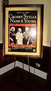 Crosby Stills Nash & Young + Band Autographed  Signed Poster! 2000 VH1 Show!