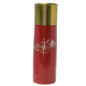 Compass Mountain Design-Engraved 25 oz Red Bullet Double Wall Insulated Thermo