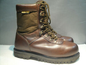 MENS 13 WOLVERINE BROWN LEATHER GORE TEX SOFT-TOE HUNTING HIKING WORK BOOTS