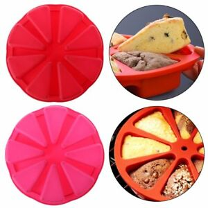 8 Cavity Silicone Non Stick Scone Round Baking Pan Triangle Cake Making Mold
