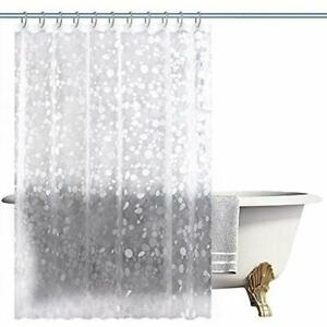 Mold Shower Curtain Sets Mildew Resistant PEVA Liner 72X72 Inches