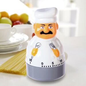 Cartoon Chef Shape Kitchen Cooking Accurate Timing Timer Baking Keep Alarm Clock