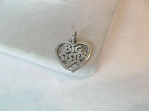 James Avery 925 sterling silver  Big Sister Heart  charm