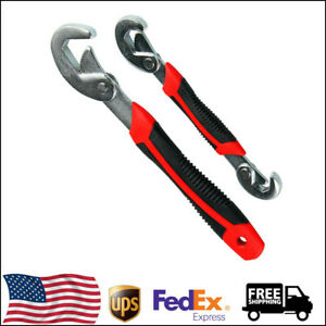 2Pcs 9mm-32mm Quick Snap Spanner Grip Universal Multi-function Adjustable Wrench