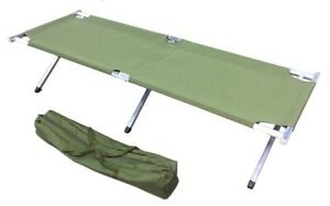 Portable Sleeping Cot Outdoor Hiking Camping Gear Green Olive Drab Zinc Frame