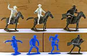 Dulcop Zorro vs Sgt. Garcia and Lancers - 7 60mm unpainted plastic toy soldiers
