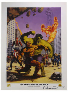 The Thing Versus The Hulk Lithograph Artist Proof Signed Sketched 92155AP $149.95
