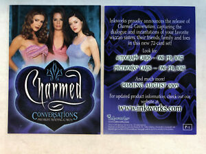 CHEAP PROMO CARD: CHARMED CONVERSATIONS Inkworks 2005 P 1 ONE SHIP FEE PER ORDER $1.25