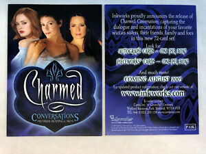 CHEAP PROMO CARD: CHARMED CONVERSATIONS Inkworks 05 P UK ONE SHIP FEE PER ORDER $1.25