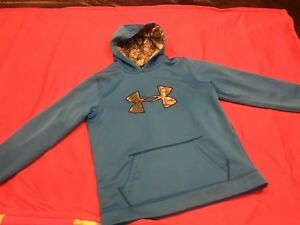 Boys Under Armour Storm 1 YXL Blue & Camo Hoodie $16.25