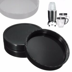 3Pcs Stay Fresh Lids Replacement Cups for Magic Bullet Juicer Plastic Black