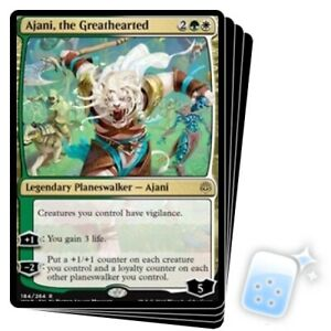 AJANI THE GREATHEARTED X4 War Of The Spark WAR Planeswalker Magic MTG MINT CARD