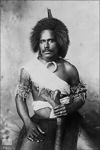 Poster Many Sizes; Unidentified Fiji Man Wearing (Traditional) Clothing Photog