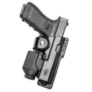 Fobus GLT21 Black RH Tactical Self-Locking Holster Fits Glock 21/20 w/Light