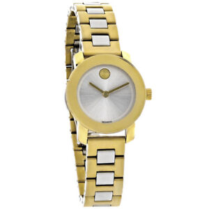 Movado Bold Ladies Silver Dial Two Tone Bracelet Swiss Quartz Watch 3600336
