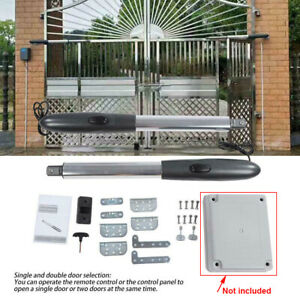 24V Auto Electric Powered Swing Gate Opener Kit With 2  Remote Control
