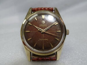 Omega Automatic Seamaster 14K Gold Capped Tropical Dial 50's