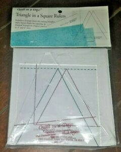 Triangle In A Square Rulers: Size 3quot; and 4quot; Sizes $16.90