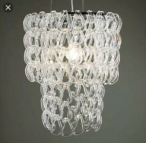 Z Gallerie Chandelier Glass Links Lamp Light Crystal Bar Ceiling Lamp Houzz