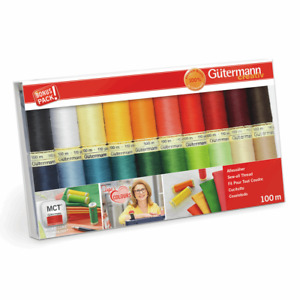 GUTERMANN SEWING THREAD SET INGAS FAVOURITE COLOURS 20 x 100m REELS 734610 ALL GBP 29.99