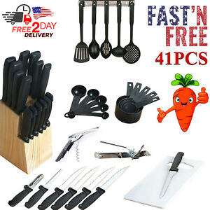 Kitchen Utensil Set Stainless Steel Bakeware Cookware Cooking Non Stick Silicone