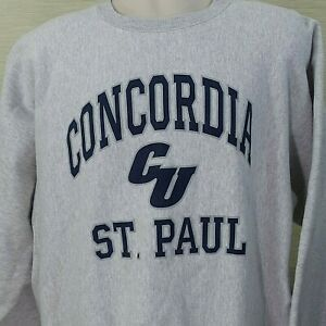 Concordia University St. Paul  Sweatshirt Vintage USA Made Gray  2X The Game