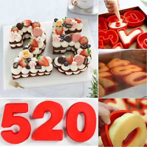 Silicone Numbers 0-8 Cake Mould Pan Baking Frosting Decorating Sugarcraft Pastry
