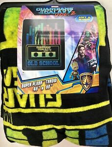 """Marvel Guardians of the Galaxy Vol.2 Cassette Crew Plush Throw Blanket 46"""" X 60"""""""