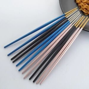High Quality Stainless Steel Eco Friendly Chinese Chopstick Non Slip Tableware