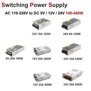 Universal 5V 12V 24V 6/10/20/30A Switch Power Supply Driver for LED Strip Light