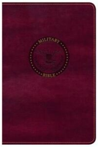 CSB Military Bible Burgundy Leathertouch (Leather  Fine Binding)