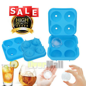 FOOD GRADE Whiskey Ice Cube Ball Maker Silicone Mold Sphere Mould Tray Round Bar