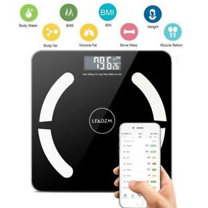 Bluetooth Smart Digital Scale Body Fat Muscel Weight Scales 180kg 400lb Battery