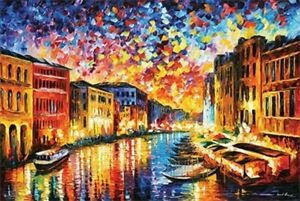 VENICE CANAL AT NIGHT FAMOUS ART POSTER size 24x36 $11.99