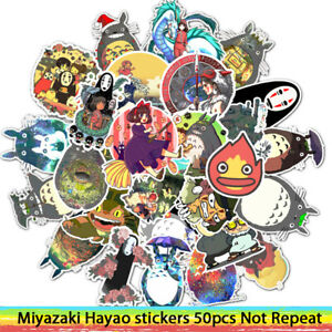 50pcs Stickers Miyazaki Hayao Anime Sticker My Neighbor TotoroSpirited Away for