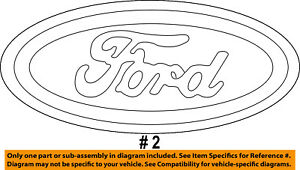 FORD OEM Expedition Liftgate Tailgate Hatch-Emblem Badge Nameplate XL1Z7442528AA