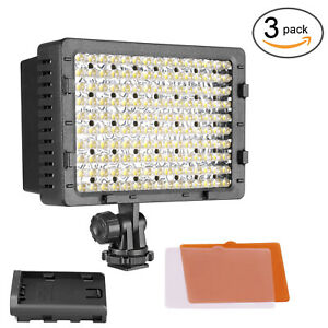 3 Pack LED CN-160 Dimmable Digital Camera Camcorder Video Light for Canon Nikon