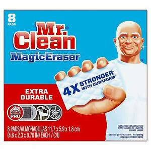 Mr Clean Magic Eraser Extra Durable, Cleaning Pads with Durafoam, 8 Count Box (P