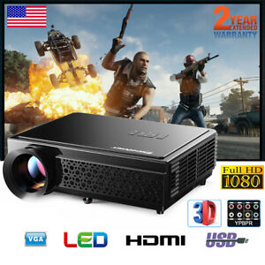 5000 Lumens 120 inch LCD Projector 1080P Home Theater 3D SD HDMI USB AV LED96+