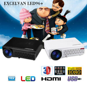 5000Lumens 1080P FHD 3D LED ATV Home Theater Projector For LaptopPS4TV-BoxDVD