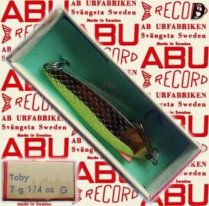 Vintage ABU Svängsta Record Spoon Toby 7gr G New in Box available 1956-69