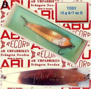 Vintage ABU Svängsta Record Spoon Toby 12gr K New in Box available 1960-69