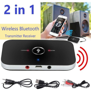 2in1 Bluetooth Receiver & Transmitter Wireless A2DP Home TV Stereo Audio Adapter